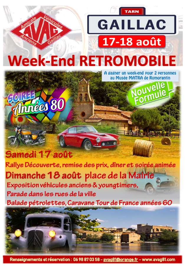 Week-end Retromobile Gaillac @ Gaillac